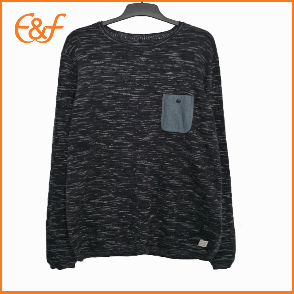 Mixed Yarn Mens Plain Casual Trendy Jumpers