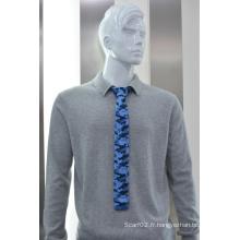 Cravates fines en polyester pour hommes