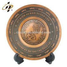Personalizado de alta qualidade gravada lembrança oval forma de metal nome comemorativo placas