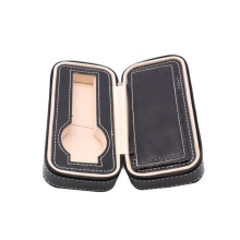 Elegance leather travel watch case with sponge watch packing box bag zipper leather watch box case