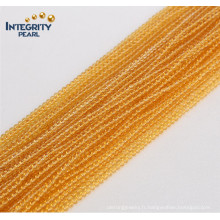 Gmenstone Loose Crystal Strands Vente en gros Cute Size 2mm 3mm Natural Yellow Quartz Gemstone