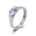 Fashion 316L Stainless Steel Simple Stone Ring Design Finger Ring Jewelry