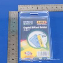 Пользовательский жесткий пластиковый идентификатор жесткой держатель карты / Crystal ID держателя карты