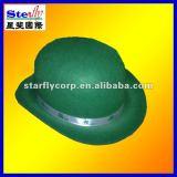 ST-H1202# fancy fedora hat/christmas festival caps ireland clover hat /four leaf clover