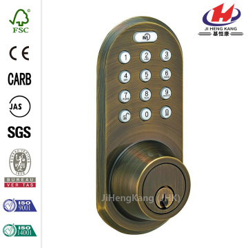 Antique Brass Touch Pad and Remote Electronic Deadbolt