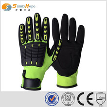 mechanical gloves working gloves nitrile coated gloves impact resistant gloves