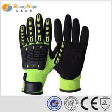 Luvas de alto impacto Sunnyhope duráveis e confortáveis luvas de trabalho de segurança de óleo e gás