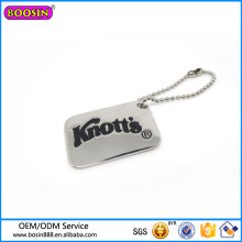 Wholesale Fashion Logo Engraved Keychain Metal Alloy Keychain
