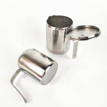 Arabic stainless steel spout milk tea cup with handle