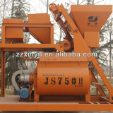 Zhengzhou Xinyu JS750 Twin Shaft Concrete Mixer