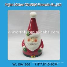 Handgemachte keramische kleine Glocke in Weihnachtsmannform für 2016 Weihnachten