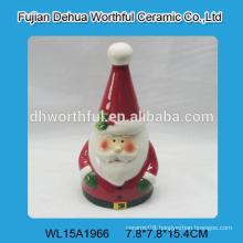 Handmade ceramic small bell in santa claus shape for 2016 christmas
