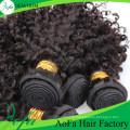 Trama de cabelo humano virgem de cabelo encaracolado atacado qualidade superior