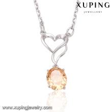 41532-vente en gros de bijoux de déclaration de mode environnementale grand collier de coeur