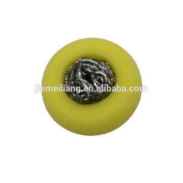 Essoreur en acier inoxydable / éponge scour / éponge en acier inoxydable avec une forme différente
