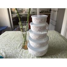 custom enamel ice bowl set of 5 pc