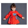 77315 gros bébé rouge robe pour le printemps des vêtements pour enfants filles