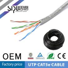 Câbles de réseau SIPU 4 paires utp cat5e 305m Stranded CAT5 câble pvc souple veste 1000ft