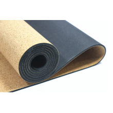 Esterilla de yoga de corcho de dos capas