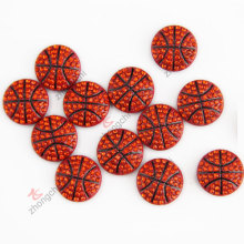 Rhinestone bola de baseketball diapositivas de metal para la joyería de la manera de la pulsera de DIY (JP08-362)