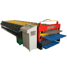 Roofing tile double layer roll forming machine
