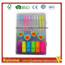 Stationery Set with Mini Highlighter