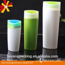 200 / 400ml Bouteille en plastique HDPE en plastique vert et blanc pour shampoing pour cheveux