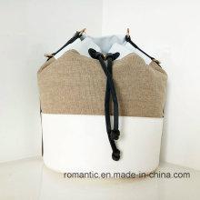 Beliebte Mode Dame PU Leder Leinwand Handtaschen (NMDK-032801)