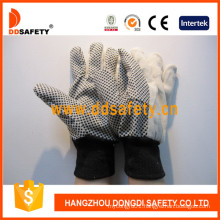 PVC Dotted Canvas Cotton Industrial Safety Gloves Dcd308
