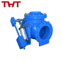 Energy storage hydraulic slowly closing closed check valve/slow shut check valve