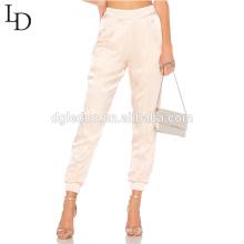 Nueva llegada de cintura elástica de las mujeres de largo sueltos holgados pantalones casuales