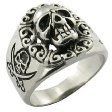Кольцо с черепом из нержавеющей стали