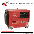 4.5kw 60hz portable engine silent diesel generator to qatar with factory price