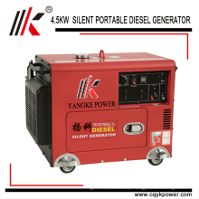Geradores diesel pequenos de baixo nível de ruído do genset 5.0KW 60HZ do gerador do rc de 12V 8.3A dc baixo