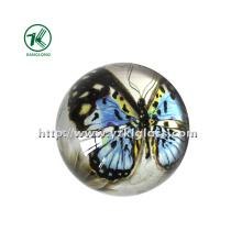 Peso de papel de cristal com papel de decalque (KL140308-1E)