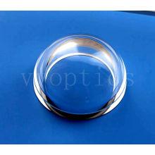 Lente cúpula óptica para cámara subacuática