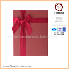 Good Quality Ribbon Cardboard Gift Rigid Box