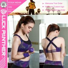 Benutzerdefinierte sublimierte junge Damen Sexy Yoga Sport BH