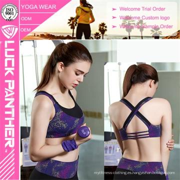 Sujetador deportivo sublimado personalizado para mujer joven