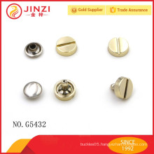 Factory direct sale,high end copper rivets and studs for bag parts