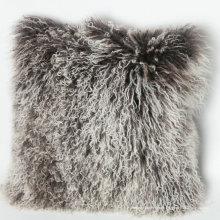 couverture souple en peau de mouton mongole multicolore