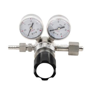 Stainess de acero de alta pureza de doble etapa de baja presión regulador
