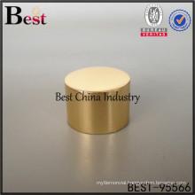 golden round aluminum perfume cap