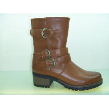 Fashion Comfort Women Leather Ankle Boots with Buckle (S 29)