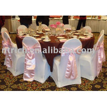 Lycra chair cover, Hotel chair cover, satin sash