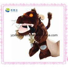 Engraçado feito sob encomenda barato animal de pelúcia em forma de fantoche de mão