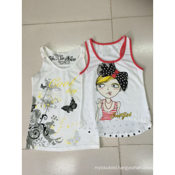 Sleeveless T-Shirt Vest for Girl in Fashion Kids Clothes (SV-021-029)