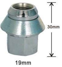 2 piece 30mm wheel nuts