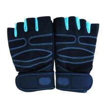 Le gymnase respirable de formation de glissement de non-travail manipulent des gants de levage de poids de demi doigt