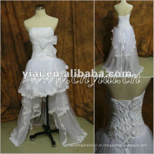 JJ2860 Beaded Front Curto e Costas Longo vestido de noiva 2013